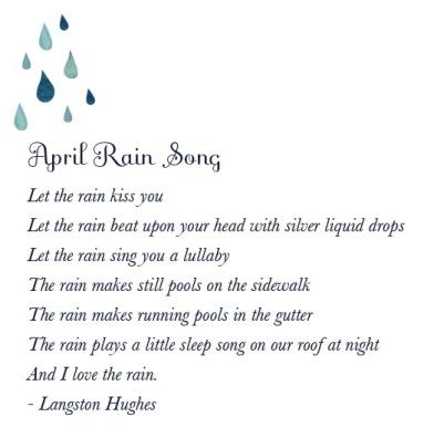 langston hughes april rain song