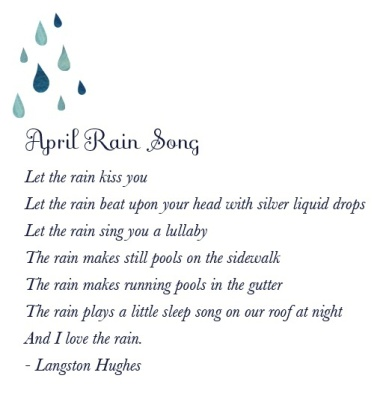 langston hughes april rain song