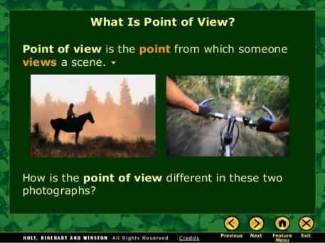 horse and bike POV