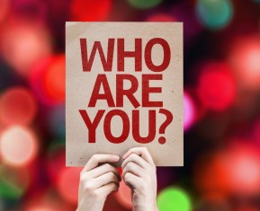 Who Are You? card with colorful background