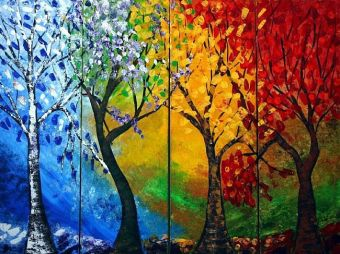 Seasons tree art