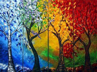 Seasons tree art
