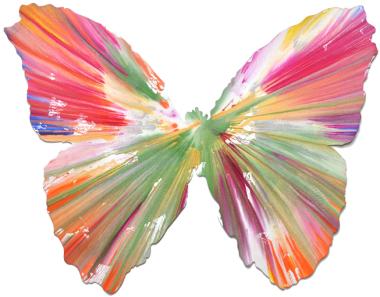 spin art butterfly