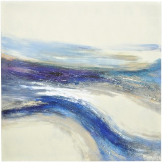 waves abstract oil painting