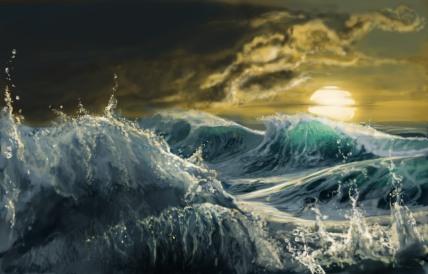 waves choppy