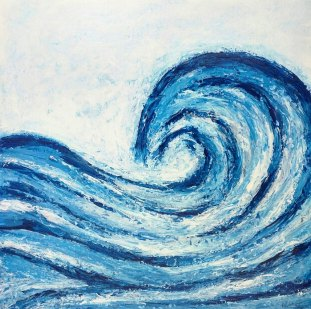 waves giant abstract painted