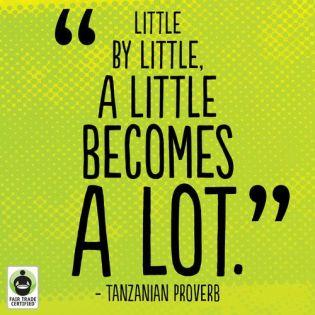 write a little becomes a lot