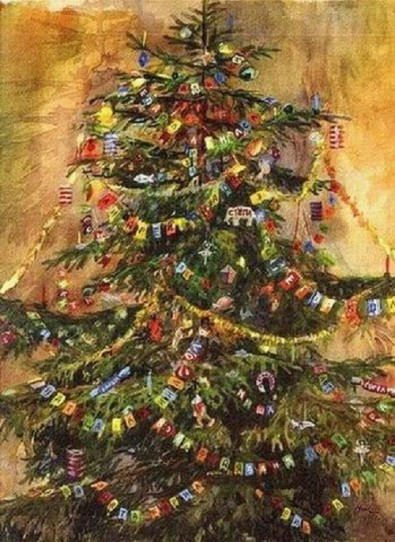 Christmas-Tree-in-painting-500x687