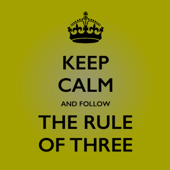 rules of three keep calm