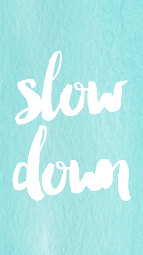 rules of three slow down