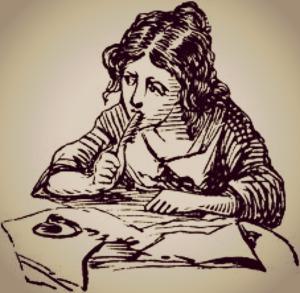 jan cocoon art girl writing