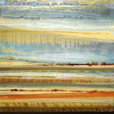 earth layers i Painting by Selina Rodriguez; earth layers i Art Print for sale
