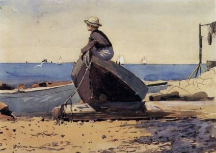 time wating for dad by winslow homer