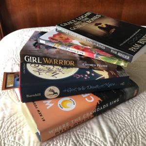 Books summer pile