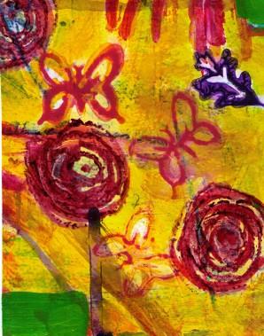 September poetry post flower butterfly