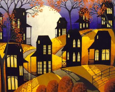 october-moon-folk-art-autumn-landscape-debbie-criswell