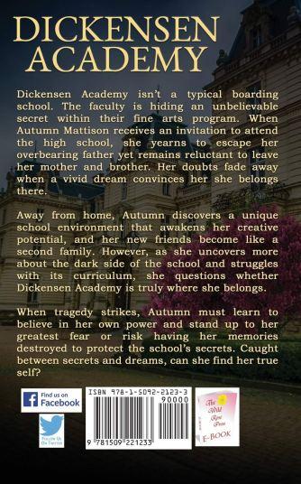 Christine Grabowski Dickensen Academy back page blurb