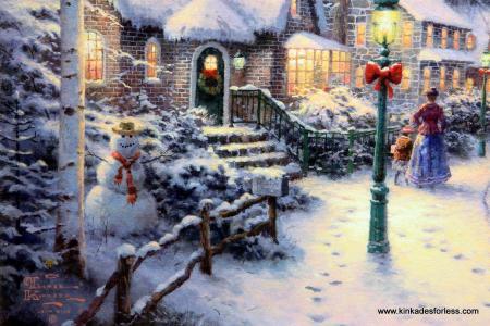mistletoe dec 2019 thomas kinkade christmas