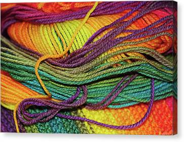 wriggling skein-of-rainbow-colored-threads-knitting-passion-jenny-rainbow-canvas-print - Copy