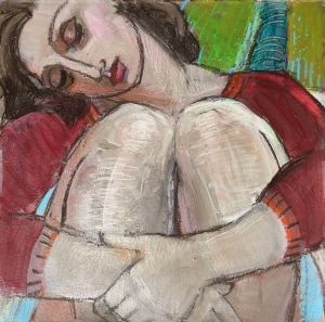 elfchen Sleeping_figurative_woman_paper_12x12_Marie_Fox-W